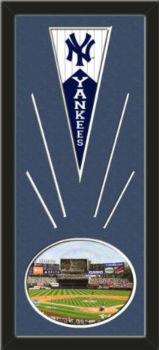 New York Yankees Wool Felt Mini Pennant & Yankee Stadium 2009 Inaugural Game Photo - Framed With Team Color Double Matting In A Quality Black Frame-Awesome & Beautiful-Must For A Championship Team Fan! Most NFL, MLB, NBA, Teams Available-Plz Mention In Gift Message If Need A different Team Art and More, Davenport, IA http://www.amazon.com/dp/B00I07OKQ0/ref=cm_sw_r_pi_dp_EEtEub1HY2TVN