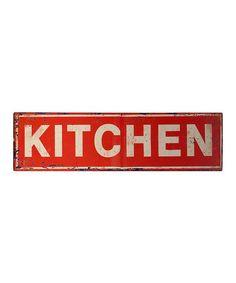 Look what I found on #zulily! Red 'Kitchen' Wall Sign #zulilyfinds