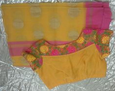 Kota saree with boat neck 7702919644