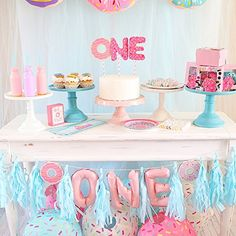 Donut party decorati