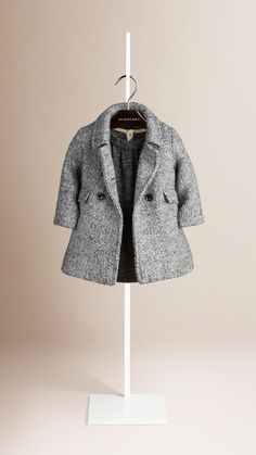 Wool Mohair Blend Double Breasted Coat | Burberry