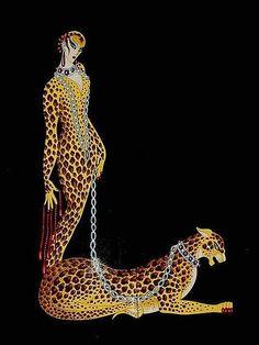 Erte L is for for Lesley the leopard loving lady