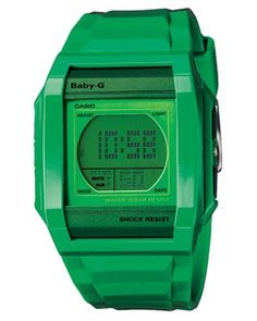 Baby-G Dual Time Chronograph Digital Green Dial Women's watch