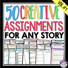 SHORT STORY AND NOVEL ASSIGNMENTS Gone are the days of boring book reports and reading responses! This multi-faceted resource provides fun ready-to-use assignments that will work for any novel or short story that your students are reading. Each of the one page assignments can be printed and handed to your students – it's that easy!