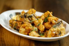 Battered and Fried mushrooms - a great sharing appetizer at Stout Street Social. Check out more at: http://www.stoutstsocial.com