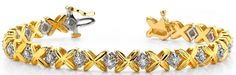 Diamantarmband mit 1.00 Karat Diamanten aus 585er Weiß und Gelbgold bei www.diamantring.be für nur 1999.00 Euro Versandkostenfrei bestellen.