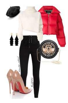"""Karrueche."" by t-falana on Polyvore featuring MISBHV, Christian Louboutin, Ann Demeulemeester, Balmain and Red Herring"