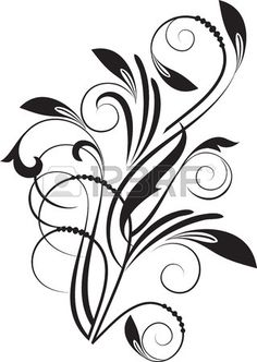 Floral abstract background with branch