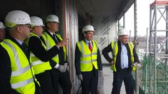 Housing minister Kris Hopkins sees #BritainBuilding with the construction of new homes well underway in Aberfeldy village,Tower Hamlets.