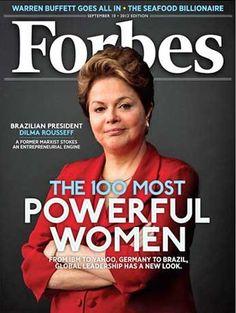 Dilma é capa da revista Forbes e fica em 3º no ranking de mais poderosas.