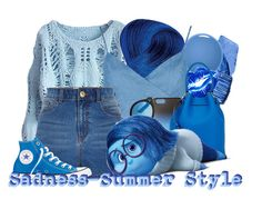 """Sadness-Summer Style"" by disney-dreamworks-freak ❤ liked on Polyvore"