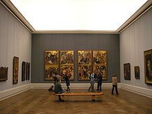 The Gemäldegalerie is an art museum in Berlin, Germany, and the museum where the main selection of paintings belonging to the Berlin State Museums (Staatliche Museen zu Berlin) is displayed. It holds one of the world's leading collections of European paintings from the 13th to the 18th centuries.