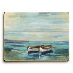 You'll love the Boats at the Beach Painting Print on Plaque at Wayfair - Great Deals on all Décor  products with Free Shipping on most stuff, even the big stuff.