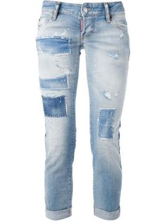 Shop DSQUARED2 'Pat Repaired' skinny jeans in Elite from the world's best independent boutiques at farfetch.com. Over 1000 designers from 60 boutiques in one website.