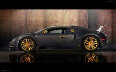 Mansory bugatti veyron linea vincero doro widescreen exotic car