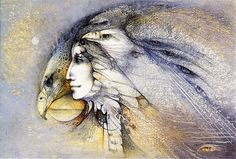 """Eagle Woman"" (alias Eyrie?) by Susan Seddon Boulet, 1986"