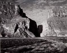 Ansel Adams (1902–1984) Santa Elena Canyon, Big Bend National Park, Texas, 1947 Gelatin silver print, 1975 ©2010 The Ansel Adams Publishing Rights Trust Amon Carter Museum, Fort Worth, Texas