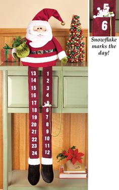 Santa Claus Christmas Advent Calendar Countdown