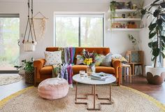 Excel at Extra Seating: Living Rooms With Perfect Pouf Placement — Rooms That Get It Right