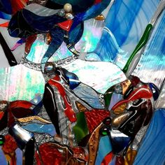 Stained glass Marie Dascalescu Stained Glass, Anime, Cartoon Movies, Anime Music, Stained Glass Panels, Leaded Glass, Animation, Anime Shows, Fused Glass