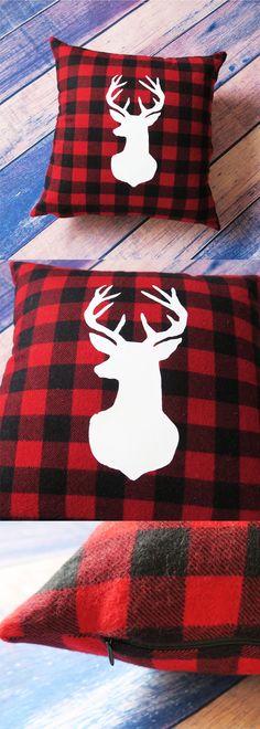 10pcs Tartan Glitter Red Reindeer Christmas Craft Embellishments Cardmaking