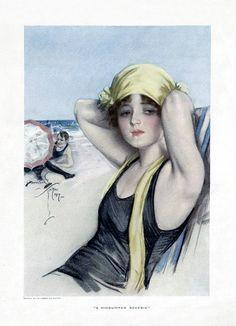 Cosmopolitan magazine, 1917. Illustration by Harrison Fisher.