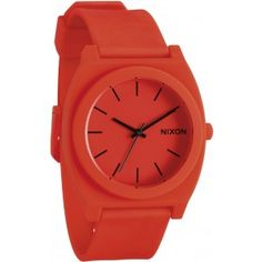 The Nixon Time Teller P watch in neon orange is a simple little watch with enough modern style to keep you on trend. This Nixon Time Teller P watch features a modern style numberless face, custom 3 hand Japanese quartz movement, a custom 100 meter water r Cool Watches, Watches For Men, Nixon Watches, Popular Watches, Bracelet Silicone, Bracelet Cuir, Online Clothing Boutiques, Orange Crush, Other Accessories
