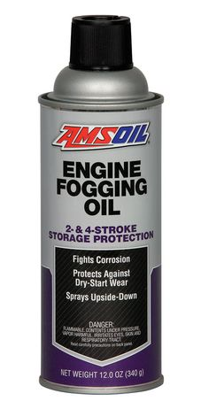 Engine Fogging Oil - Use this to store your equipment for long periods - Click on picture -