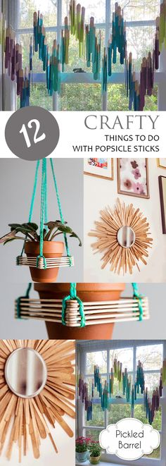 12 Crafty Things to Do With Popsicle Sticks Popsicle stick crafts. Popsicle Stick Crafts For Adults, Diy Popsicle Stick Crafts, Diy With Popsicle Sticks, Craft Stick Projects, Wood Projects For Kids, Craft Ideas, Kids Wood, Fun Ideas, Art Projects