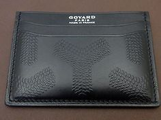 GOYARD-ST-SULPICE-CARD-CASE-ULTRA-RARE-MONTPARNASSE-ALL-LEATHER-EMBOSSED