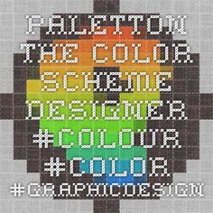 Paletton - The Color Scheme Designer #colour #color #graphicdesign #webdesign #colourscheme #graphicdesigner #design #palleton #palettes