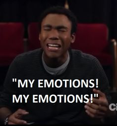 Donald Glover crying.