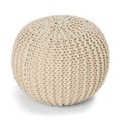 Knitted Ottoman - Natural | Kmart