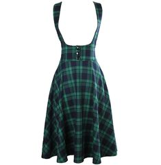 vintage 50s high waist midi swing circle green tartan plaid suspender skirt plus size 4xl falda rockabilly overalls brace skirts-in Skirts from Women's Clothing & Accessories on Aliexpress.com | Alibaba Group