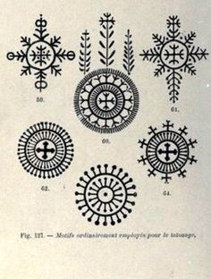 They used these as tattoos on Croatian women.