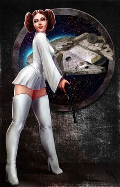 Leia Pinup by phoenixnightmare…. on @deviantART
