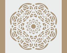 Motivo de Mandala  plantilla de la geometría por StencilDirect
