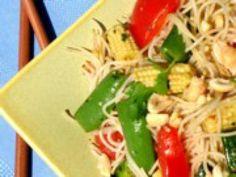 Pasta Salad with a Twist! - Thai Rice Noodle Salad: Thai Pasta Salad