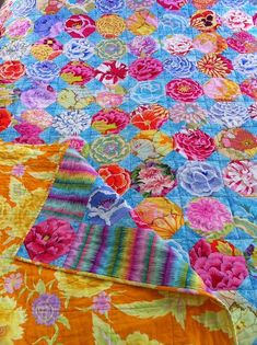 Kaffe Fassett Pastel Floral Snowball Quilt by sandyO5, via ... | Quil ...