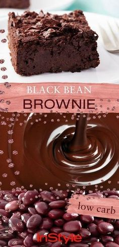 This low carb brownie with black beans is guaranteed not to make you fat and is super tasty. Here is the brownie recipe! This low carb brownie with black beans is guaranteed not to make you fat and is super tasty. Here is the brownie recipe! Big Donuts, Black Bean Brownies, Your Soul, Delicious Fruit, Low Calorie Recipes, Summer Desserts, Brownie Recipes, Baking, Super