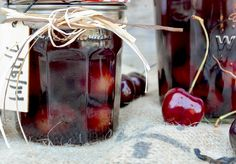 Cherry-Vanilla Infused Bourbon // This Cherry-Vanilla Infused Bourbon is great on the rocks. But I'm also really looking forward to using it as a base for some really tasty cocktails. Cocktail Drinks, Fun Drinks, Yummy Drinks, Alcoholic Drinks, Cocktail Gifts, Liquor Drinks, Bourbon Drinks, Homemade Liquor, Homemade Alcohol