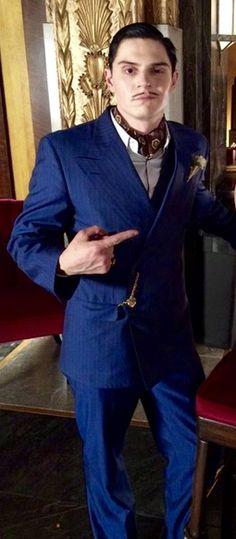 Evan Peters looking very debonair as James Patrick March in AHS Hotel.