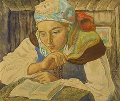 Woman reading Reading and Art: Charles-Clos Olsommer