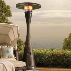Our towering All-weather Woven Heater blends in seamlessly with your outdoor wicker décor. A circle of radiant heat lets you enjoy fresh air in any season and the double-tiered dome directs heat downward and outward. Outdoor Heaters, Patio Heater, Sunroom Furniture, Outdoor Furniture, Wicker Furniture, Portable Heater, Outdoor Living, Outdoor Decor, Outdoor Spaces