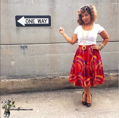 All Things Ankara: Celebrities: Erica Campbell of Gospel Group Mary Mary wears Modahnik Skirt