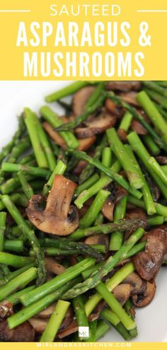 Do you know how to cook asparagus? This is an easy and healthy side dish perfect for all your summer grilling and cookouts. The asparagus comes out buttery with tasty mushrooms. If you are not a mushroom fan you can leave those out and just use this recipe for asparagus. #simple #sidedish #summer #grilling #vegetable Saute Asparagus, Asparagus And Mushrooms, How To Cook Asparagus, Asparagus Recipe, Stuffed Mushrooms, Healthy Side Dishes, Side Dish Recipes, Easy Appetizer Recipes, Appetizers