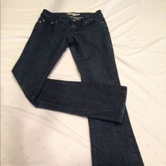 Dark blue boot cut jeans by forever 21! NWOT! Never been worn! Dark blue denim bootcut jeans size 24 waist, inseam 31 length. Forever 21 Jeans Boot Cut