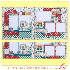 Birthday Wishes Boy Two Page Layout