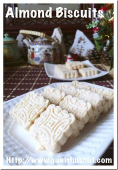 Chinese Almond Biscuits (杏仁酥饼)#guaishushu #kenneth_goh #almond_biscuits