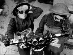 Looking out for enemy aircraft in England